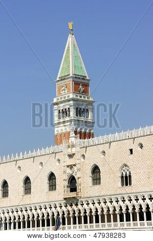 Palazzo Ducale And Basilica Of Saint Mark Bell Tower, Venice