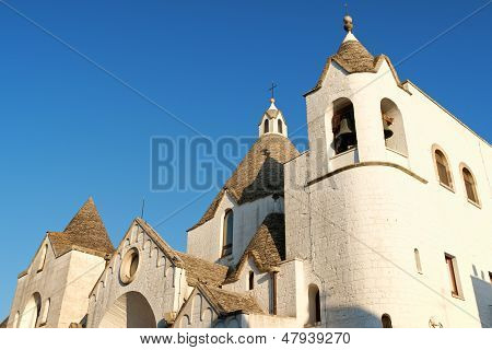 San Antonio Trullo Church In Alberobello, Italy