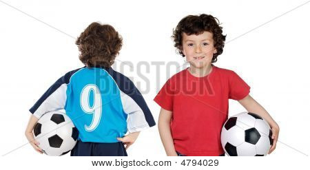 Children With Soccerball