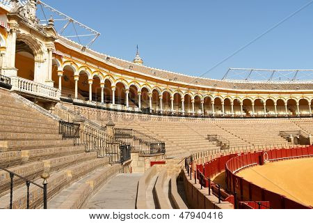 Plaza De Toros In Seville, Spain