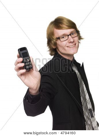 Man with a mobile