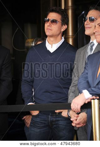 LOS ANGELES - JUN 23:  Tom Cruise arrives to the Walk of Fame Honors Jerry Bruckheimer  on June 23, 2013 in Hollywood, CA