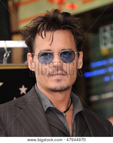LOS ANGELES - 23 de JUN: Johnny Depp chega para o andar de fama honras Jerry Bruckheimer em 23 de junho,