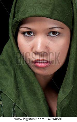 Asiatic Muslim Woman