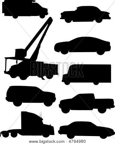 Siluetas de automóviles