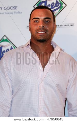 NEW YORK-JULY 14: Texas Rangers outfielder Nelson Cruz attends the Aces, Inc. All Star party at Marquee on July 14, 2013 in New York City.