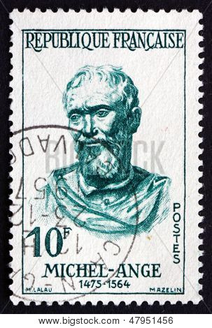Postage Stamp France 1957 Michelangelo, Italian Sculptor, Painter