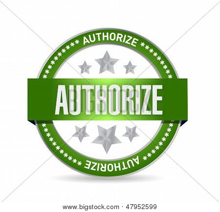 Authorized Seal Stamp Illustration Design