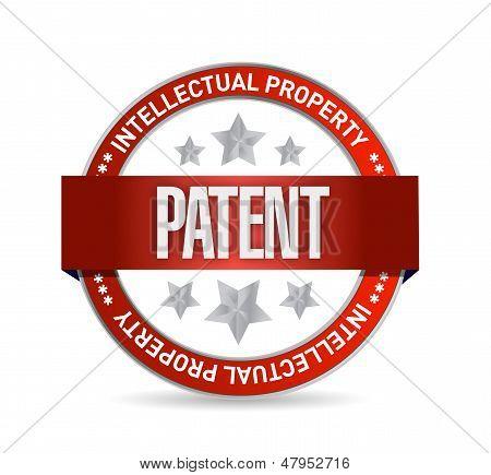 Patent Seal Stamp Illustration Design