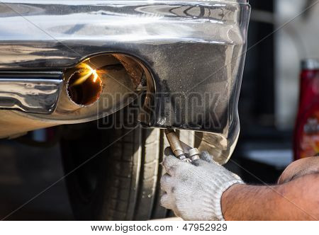 Repairing Exhaust Pipe