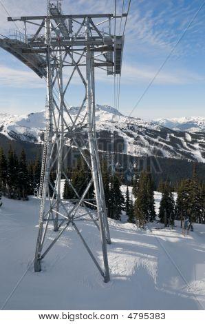 Gondola Tower At Ski Resort