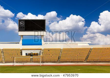 Stadium With Scoreboard