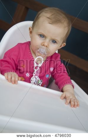 Baby On Highchair