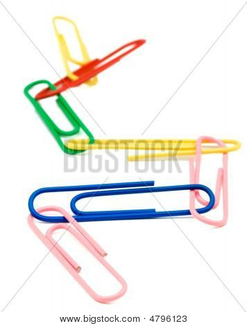 Paper Clips Linked Together