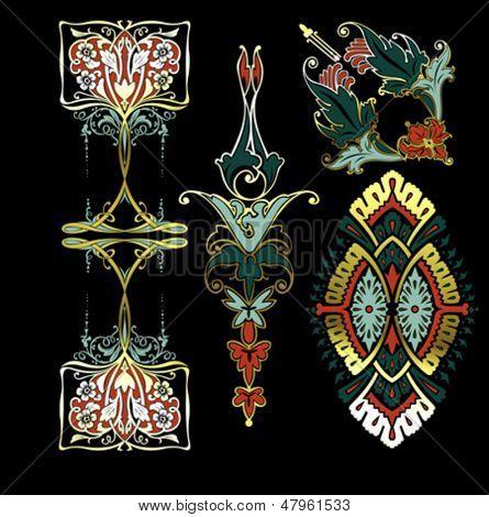Color Decorate Vintage Design Elements