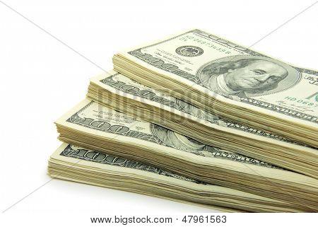 stock of money isolated on white background