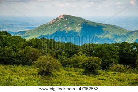 View Of Old Rag Mountain From Skyline Drive In Shenandoah National Park, Virginia.