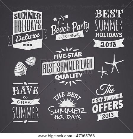 Summer Chalkboard Designs