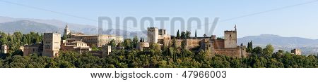 Panorama Of Alhambra In Granada