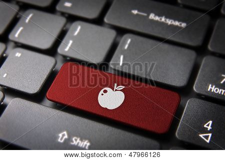 Red Fruit Keyboard Key, Love Background