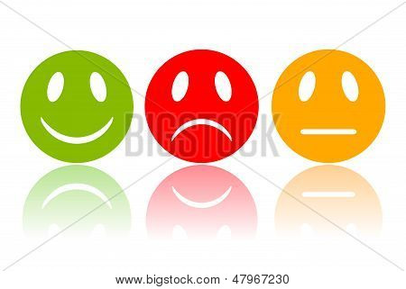 Reaction smiley, vector illustration