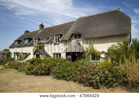 Pretty cottages, Somerset, England