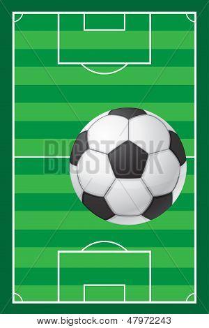 Football Soccer Stadiun Field And Ball