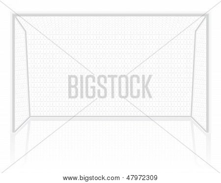 Football Soccer Gates Goalie Vector Illustration