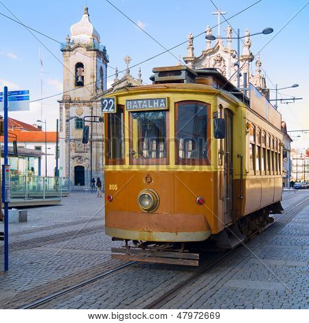 old tram of Porto, Portugal