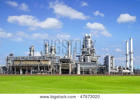 Refinery plant at Europort harbor Rotterdam.