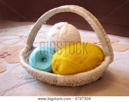 Knitting In Basket