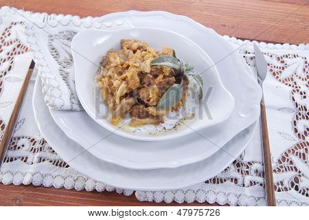 Plate Of Tripe Cooked