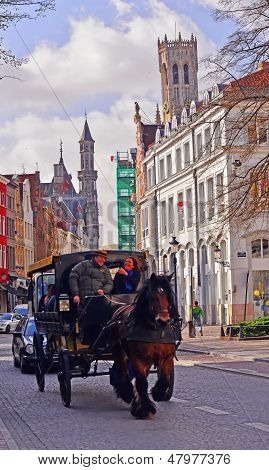 Carriage Ride of Bruges, Belgium