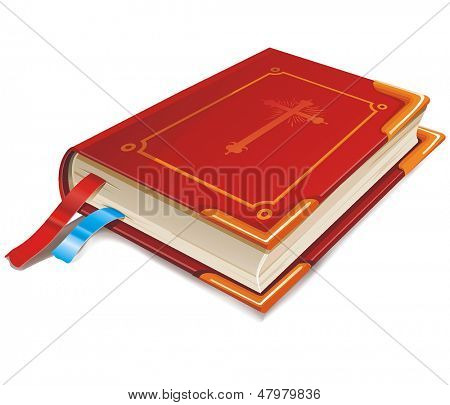 Red Book Isolated On White background, Elegance vector illustration