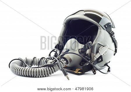 Military flight helmet isolated.