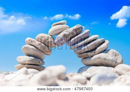 Equilíbrio da ponte de pedra