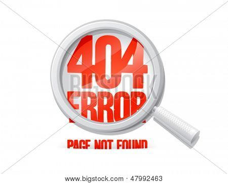 404 error, page not found. Design template.
