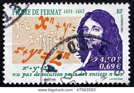 Postage Stamp France 2001 Pierre De Fermat, Mathematician, Lawyer