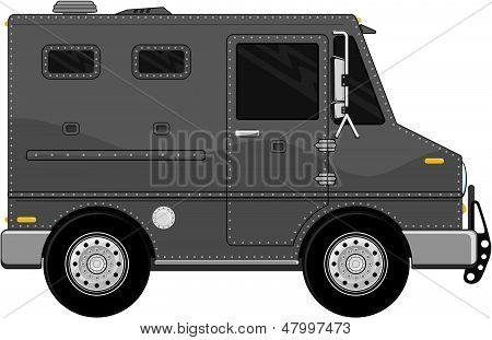 armored truck vehicle cartoon