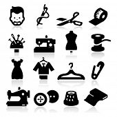 stock photo of tumblers  - Sewing Icons - JPG