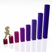 Dollar Sign Climbing Bar Chart 1