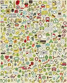 pic of food truck  - XXL Doodle Icons Set No - JPG