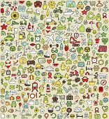 stock photo of small-flower  - XXL Doodle Icons Set No - JPG