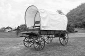 foto of covered wagon  - Black  - JPG