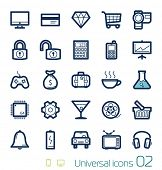 Universele icons set perfecte lijnen 02