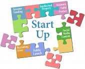 image of jigsaw  - Jigsaw puzzle pieces put together entrepreneur business start up plan - JPG
