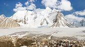 stock photo of skardu  - The mighty Vigne Glacier in the Karakorum Mountains Pakistan - JPG