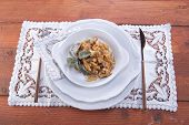 image of tripe  - Dish Of Italian Cuisine Tripe Cooked With Tomato Sauce - JPG