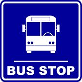 stock photo of motor-bus  - bus stop sign - JPG