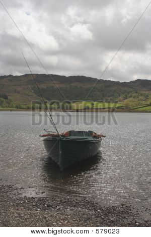 Fishing Boat At Lake,Watendlath Tarn,UK
